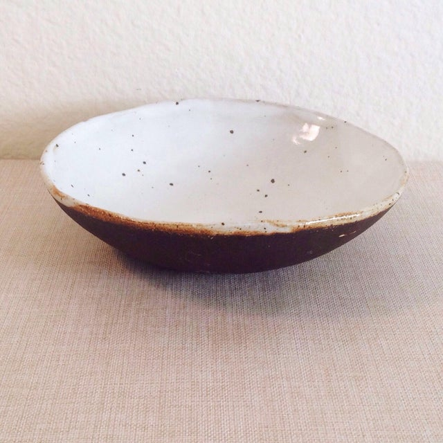 Boho Chic Speckled Stoneware Soup Bowl For Sale In Los Angeles - Image 6 of 9