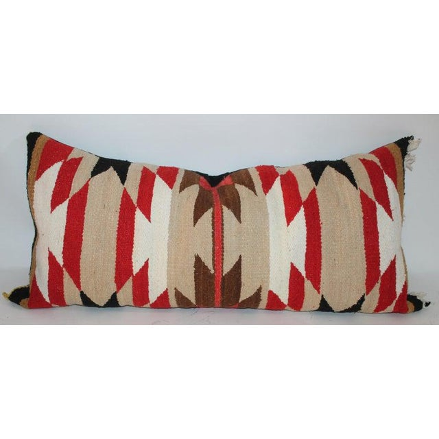 2010s Navajo Indian Saddle Blanket Pillows - Set of 3 For Sale - Image 5 of 11