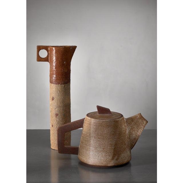 Ceramic Pitcher and (Tea) Pot, France, 1960s For Sale - Image 4 of 4