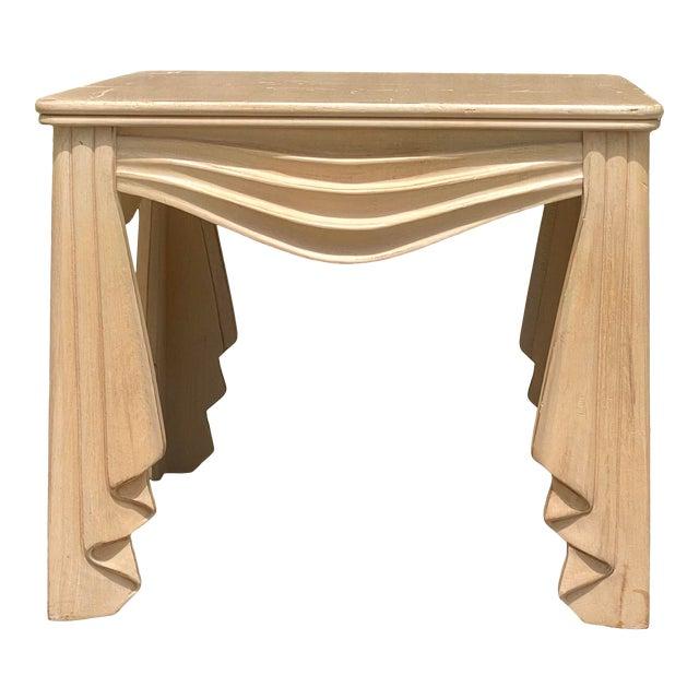 Vintage Regency Swag Draped Side Table For Sale