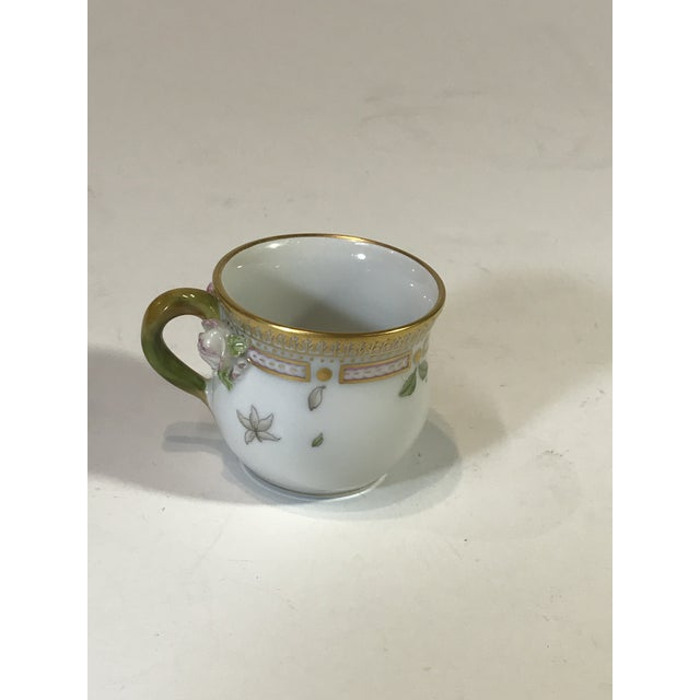 1950s Royal Copenhagen Flora Danica Demitasse With Lid and Saucer Butter Cup For Sale - Image 5 of 13