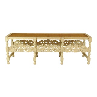 19th-C. Italian Painted Baroque Bench