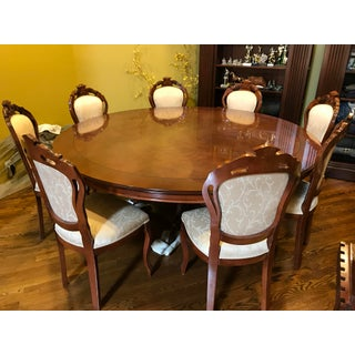 English Traditional Walnut Radica Dining Set - 9 Pieces Preview