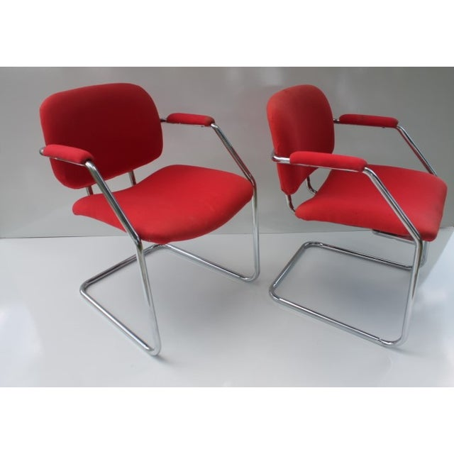 Mid-Century Chrome Accent Chairs - A Pair - Image 3 of 8
