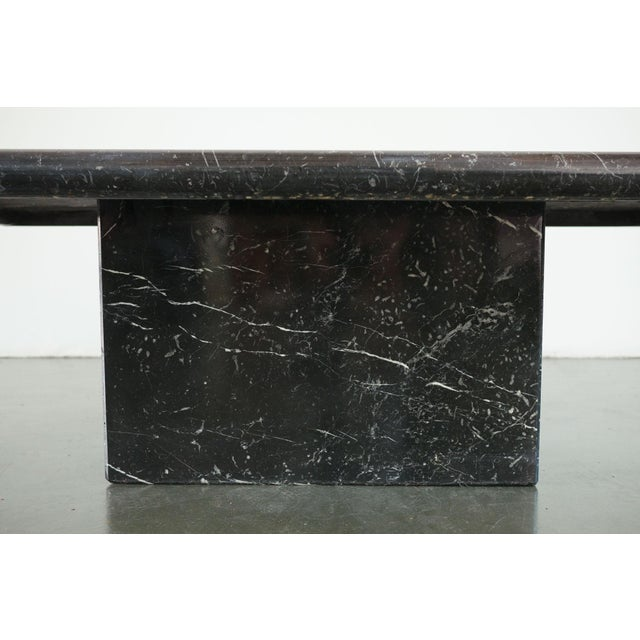20th Century Art Deco Black Marble Coffee Table For Sale - Image 4 of 8