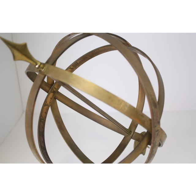 Industrial 1960s Industrial Solid Brass Armillary Sphere For Sale - Image 3 of 7