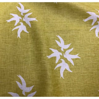 Victoria Hagan White Dove Citrine Fabric Remnant For Sale