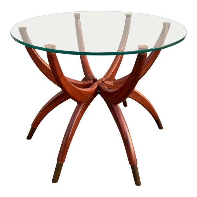 Mid-Century Modern Teak Spider Leg Table For Sale