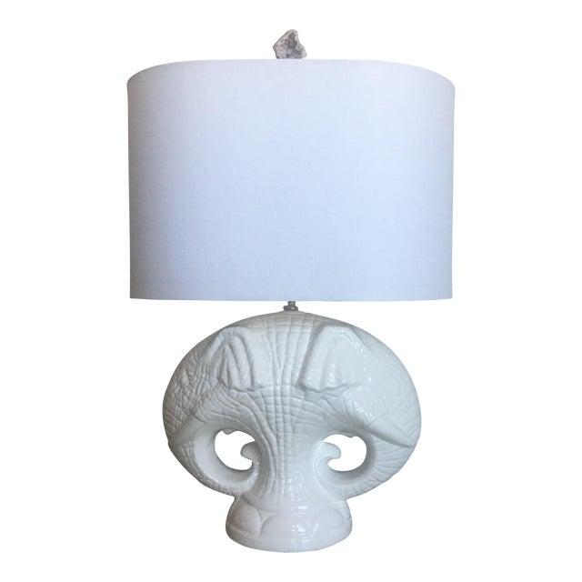 Italian Elephants Lamp & Shade For Sale