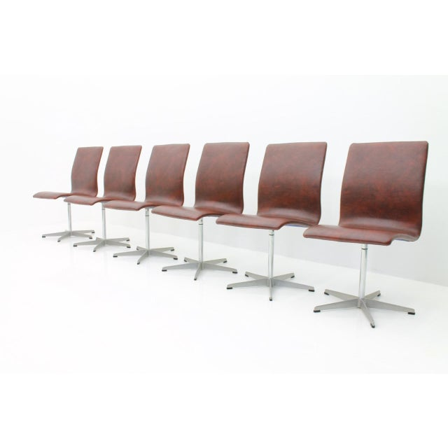 6x Arne Jacobsen Oxford Chairs by Fritz Hansen Denmark For Sale - Image 12 of 12