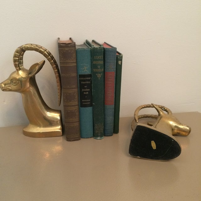 Brass Ibex Bookends - Image 6 of 8