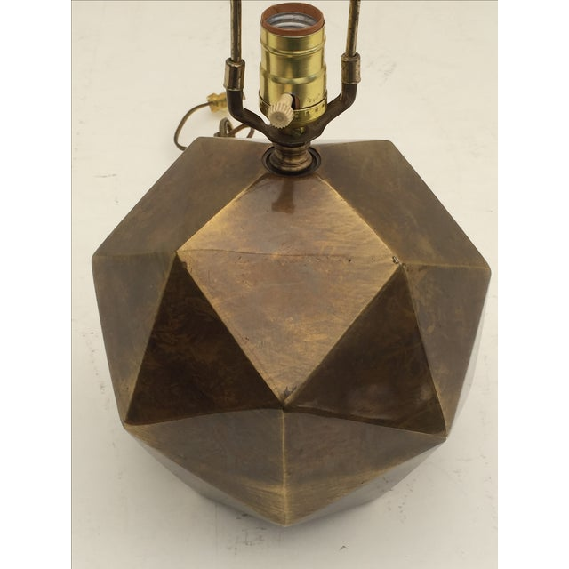 Bronzed Geometrical Lamp by Westwood - Image 4 of 9