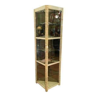 Modern Baker Furniture Company Triangle Vitrine Showcase by Allesandro 1 of 2 For Sale