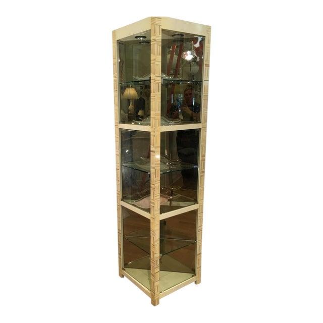 Modern Baker Furniture Company Triangle Vitrine Showcase by Allesandro 1 of 2 For Sale