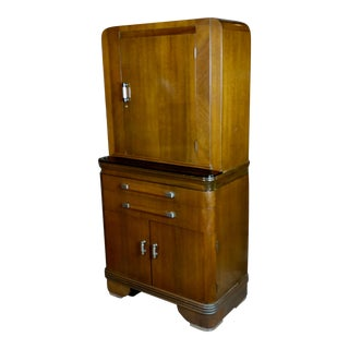1930s Walnut Dental Cabinet