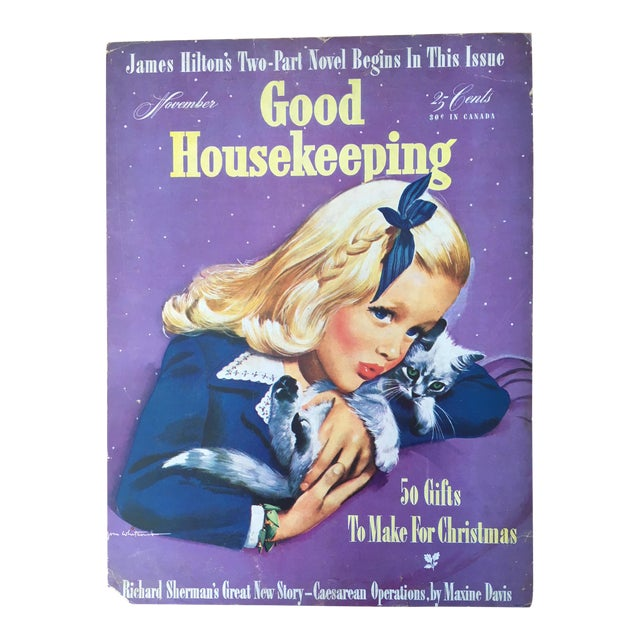 Vintage 1940s Good Housekeeping Newsstand Advertising Sign Chairish