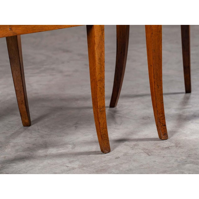 Antique 1890s Italian Empire Walnut Neoclassical Chairs - a Pair For Sale - Image 11 of 13