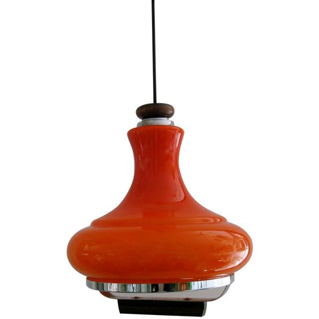 German orange glass pendant light chairish german orange glass pendant light for sale aloadofball Image collections