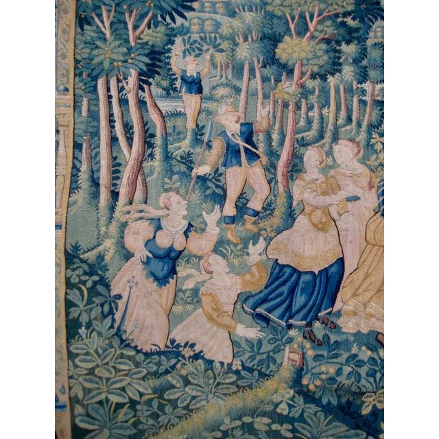 Figurative Large 16th Century Flemish Tapestry Wall Hanging For Sale - Image 3 of 13