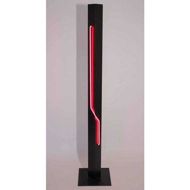 Rudi Stern Neon Floor Lamp and Torchiere - Image 2 of 7