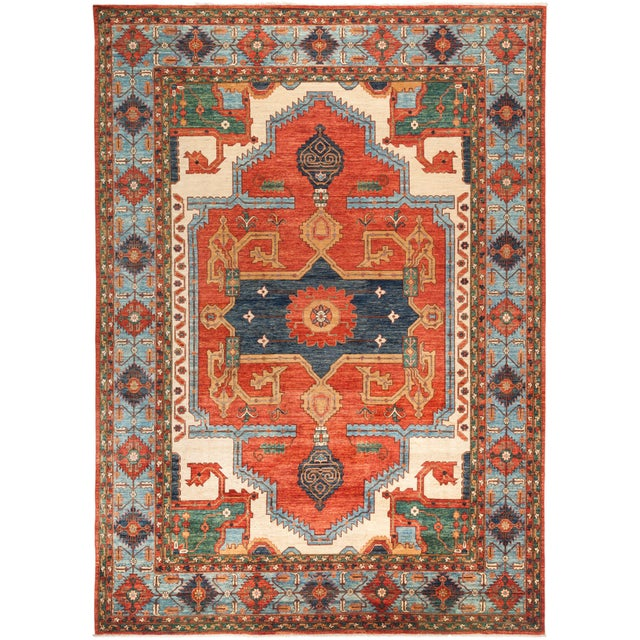 "Serapi Hand Knotted Area Rug - 9' 10"" X 13' 10"" - Image 4 of 4"