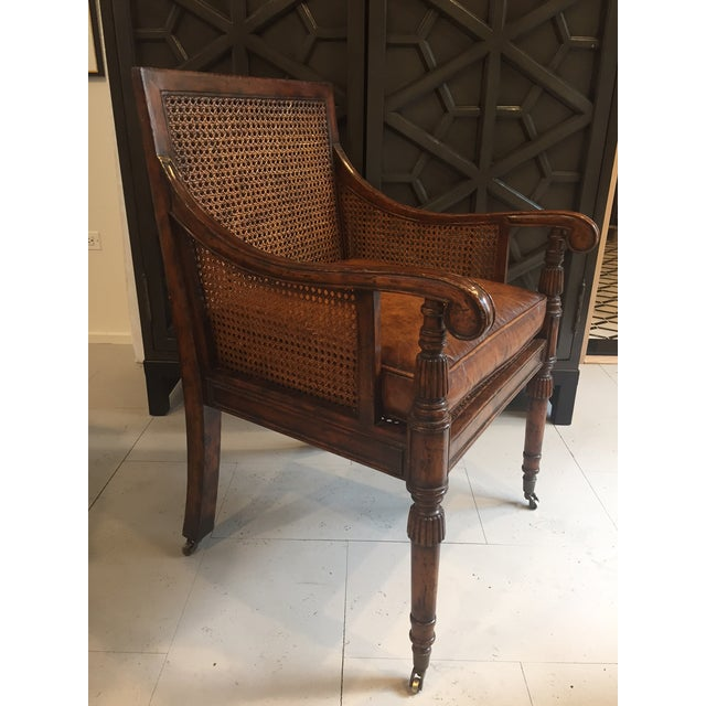 Antique Mahogany Cane-Back Chair