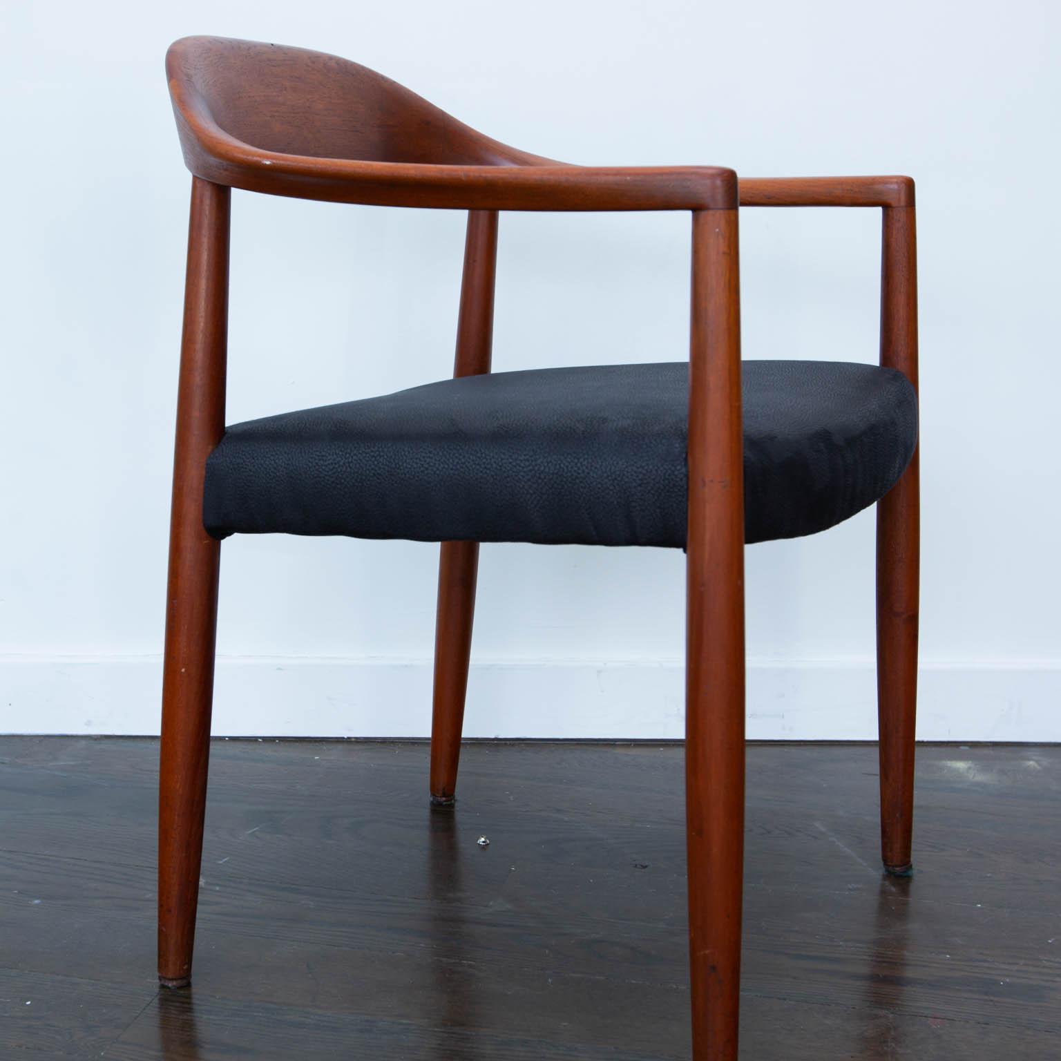 Hans Wegner Round Chair Style Teak Armchair   Image 5 Of 7