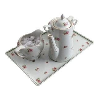 Antique Victoria Czechoslovakia Tea Pot Set For Sale