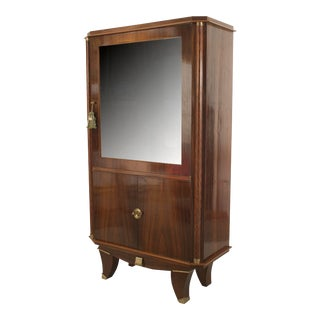 French Art Deco Palisander Wood Display Vitrine Cabinet For Sale