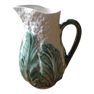 Vintage Cauliflower Water Pitcher Designed by Jay Willfred, Made in Portugal For Sale
