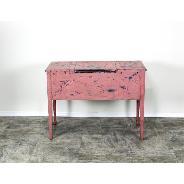 French Provincial Vanity, Provincial Dressing Table, Shabby Chic Vanity Desk, Pink Vanity, Mid Century Vanity Desk, Vintage Vanity For Sale - Image 12 of 12