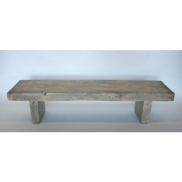 Unique Wood Benches: Excellent Custom Reclaimed Wood Bench In Driftwood Finish