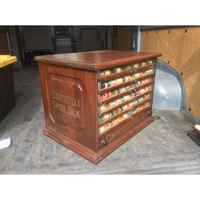 Americana Antique Mercantile Spool Cabinet For Sale - Image 3 of 6