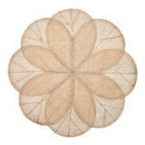Image of Sinamay Flower Placemats, Natural, Set of 4 For Sale