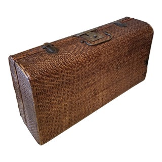 Antique Chinese Bamboo Suitcase For Sale