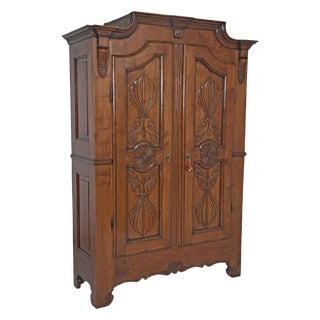 19th Century Walnut Italian Armoire For Sale