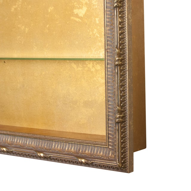 Wall-Mounted Giltwood Vitrines - Pair For Sale - Image 4 of 9