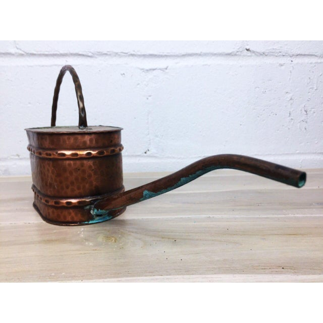 Vintage French Country Rustic Copper Flower Watering Pot - Image 3 of 9