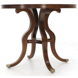 Flame Mahogany Round Top Lamp Table by Century Preview