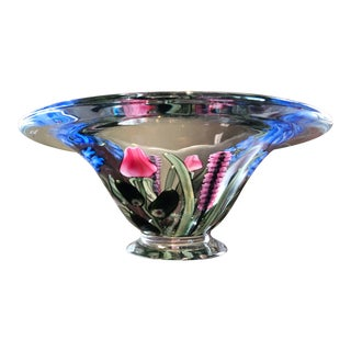Vandermark Glass-Large Bouquet Bowl For Sale