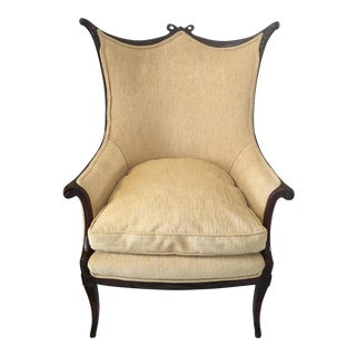 1940s Vintage Grosfeld Bow Back Arm Chair