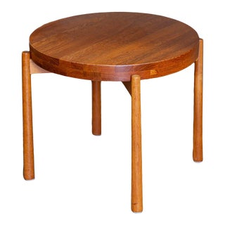 1960's Danish Modern Teak Flip Top Tray Table For Sale