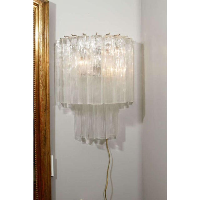 Italian Murano Waterfall Sconces - A Pair For Sale - Image 3 of 12