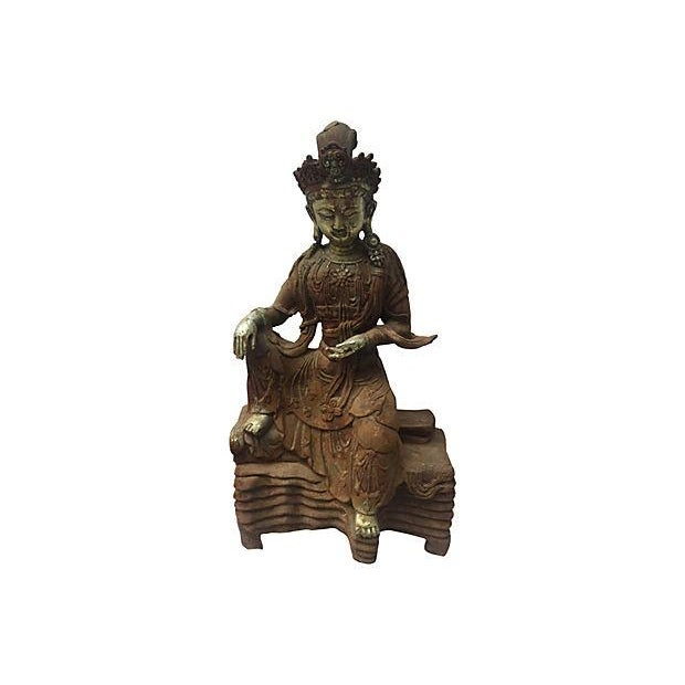 Antique Goddess, Quan Yin - Image 7 of 7