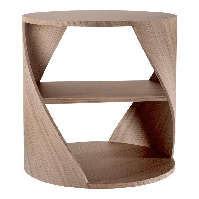 Mydna Walnut Decorative Side Table by Joel Escalona For Sale