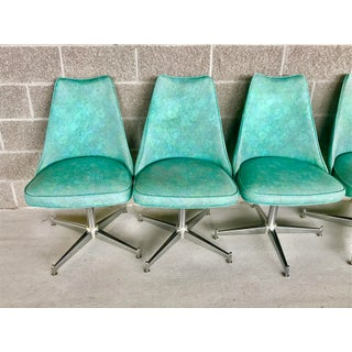 Vintage 1950's Vinyl and Chrome Dining Chairs- Set of 8 Preview