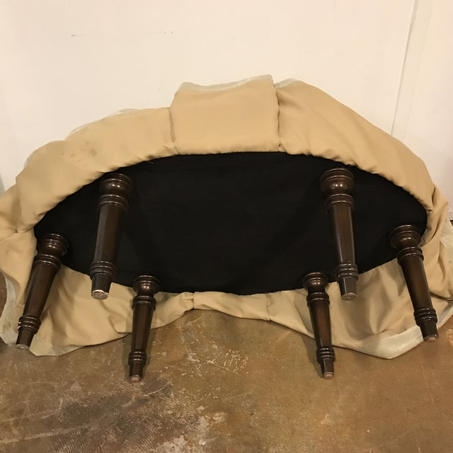 Contemporary Oval Upholstered Ottoman - Image 6 of 8