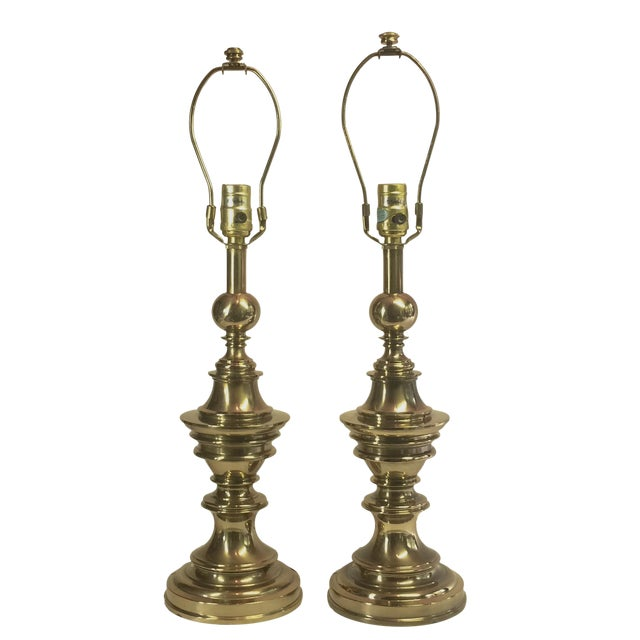 Vintage Stiffel Brass Lamps - A Pair - Image 1 of 4