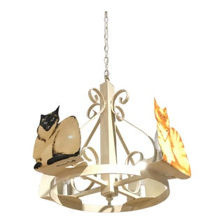 Petersen-Crafts Cat Chandelier For Sale