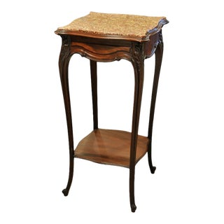 Vintage French Marble Top Stand For Sale